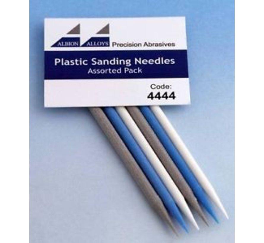 Plastic Schuurnaalden set - 6x - 4444