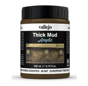 Vallejo European Mud Thick Mud Weathering Effects - 200ml - 26807