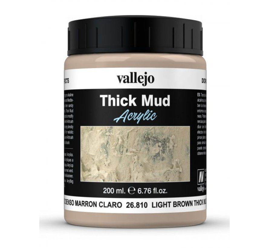 Light Brown Mud Thick Mud Weathering Effects - 200ml - 26810