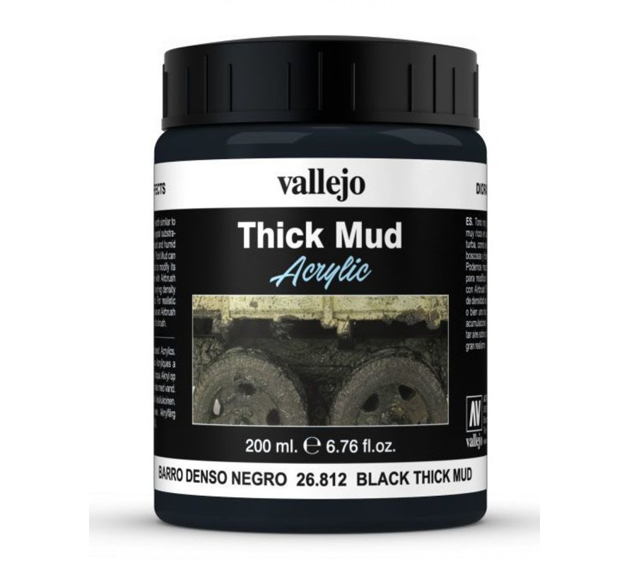 Black Mud Thick Mud Weathering Effects - 200ml - 26812