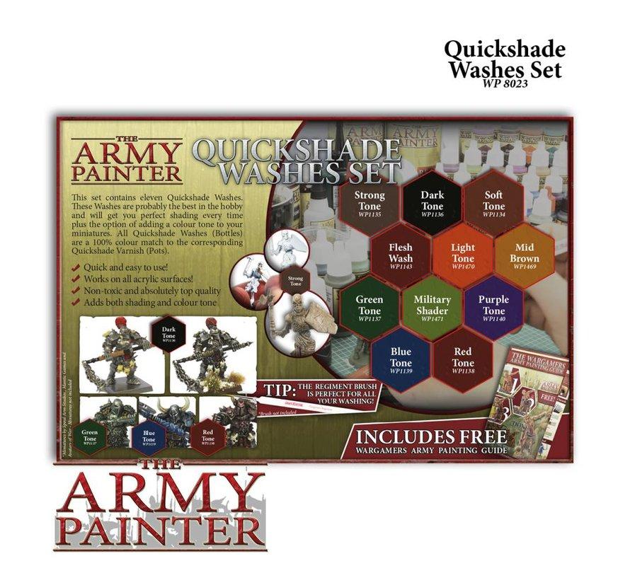 Warpaints Quickshade Washes Set - 11 kleuren - WP8023
