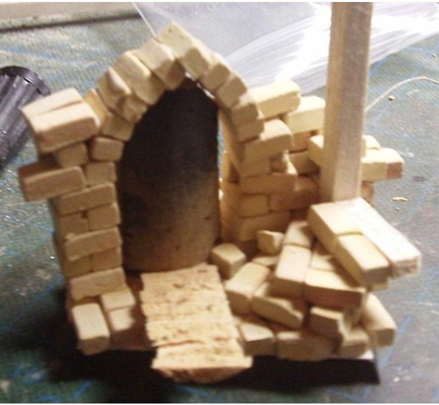 Beige medium baksteen 1:35 - 1000x - 23044