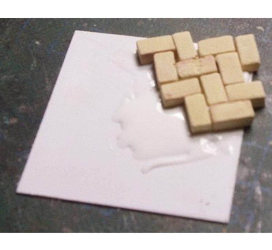 Grijs donker baksteen 1:35 - 1000x - 23014