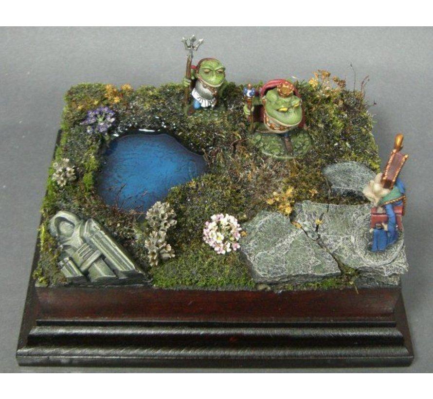 20x27cm diorama sokkel op voet - StSock20x27