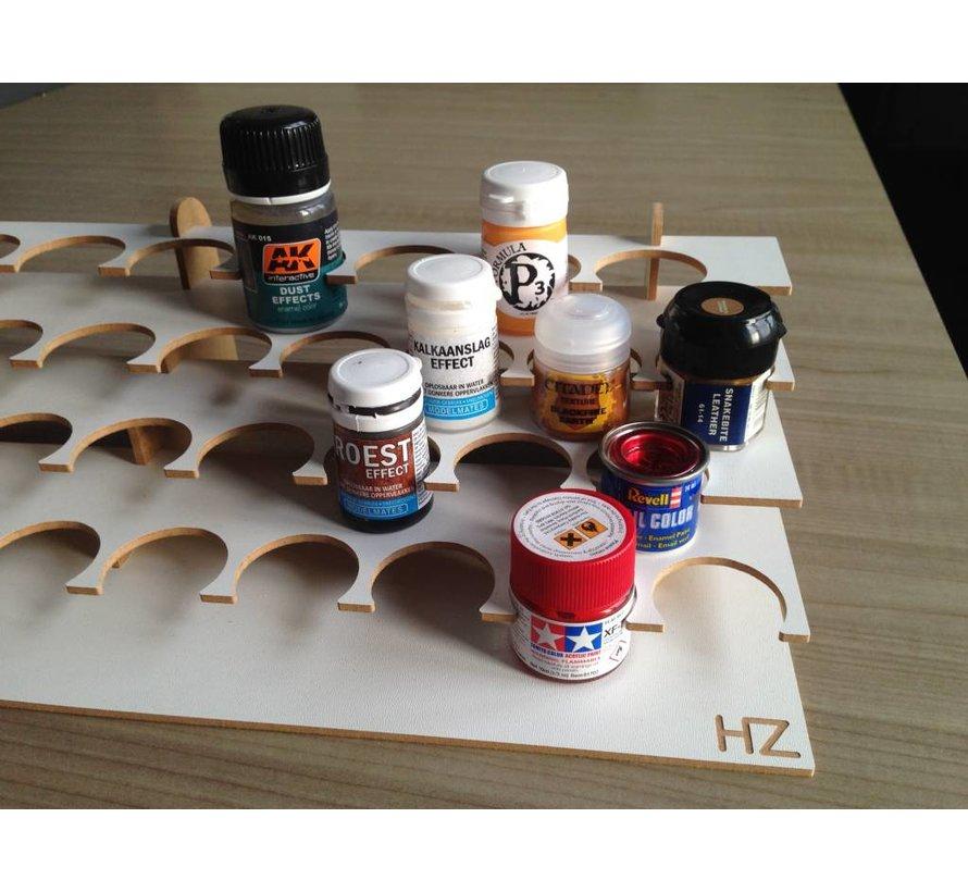 Large Corner Paint Stand - 36mm potjes verfrek - S2Nb