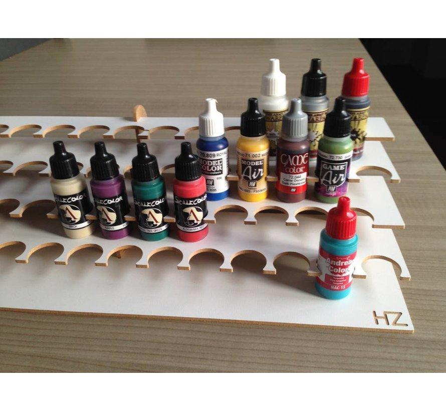 Hobbyzone Corner Paint Stand - 26mm potjes verfrek - S1Ns