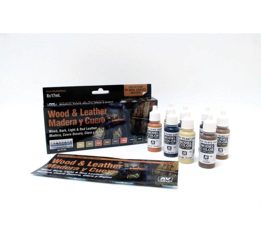Model Color Wood and Leather - 8 kleuren - 17ml - 70182
