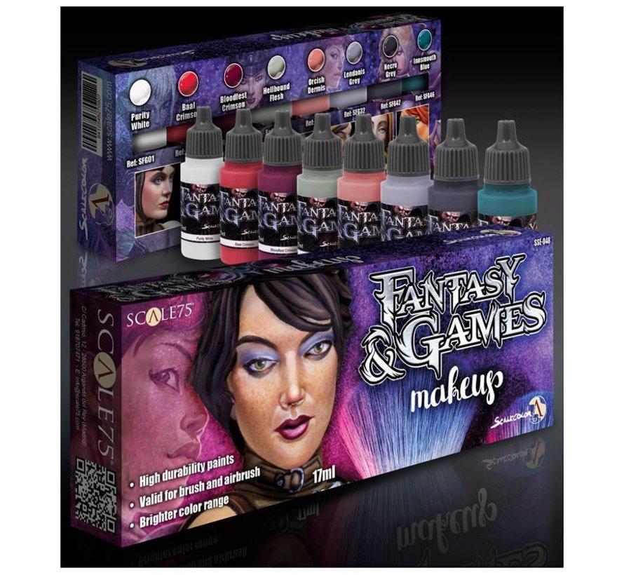 Makeup - Fantasy & Games - 8 kleuren - 17ml - SSE-048