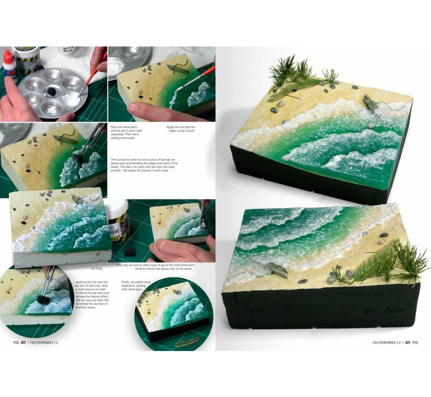 Dioramas F.A.Q. 1.2 Extension – Water, Ice & Snow - English - 140pag - AK-8050