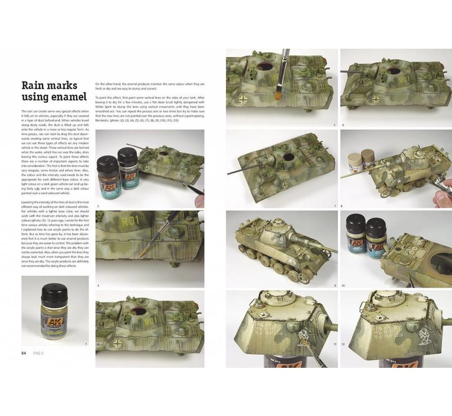 AFV Painting Techniques F.A.Q. 2 Limited Edition - English - 320pag - AK-038