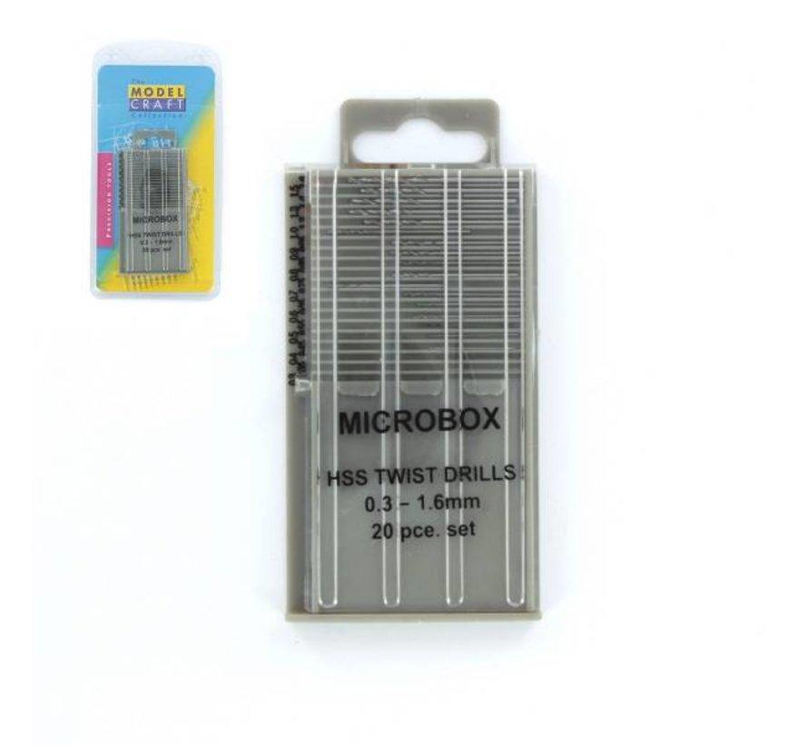 HSS Borenset - 20x - 0,3-1,6mm - PDR4001