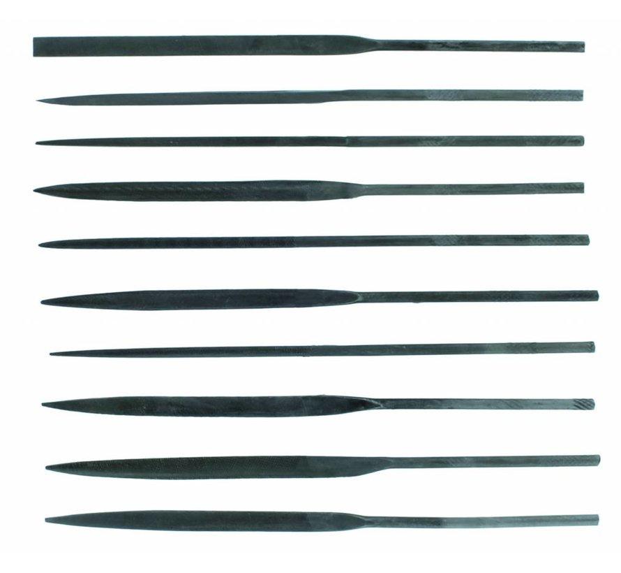 Budget needle file set - vijlen set - 10x - Vallejo Tools - T03001