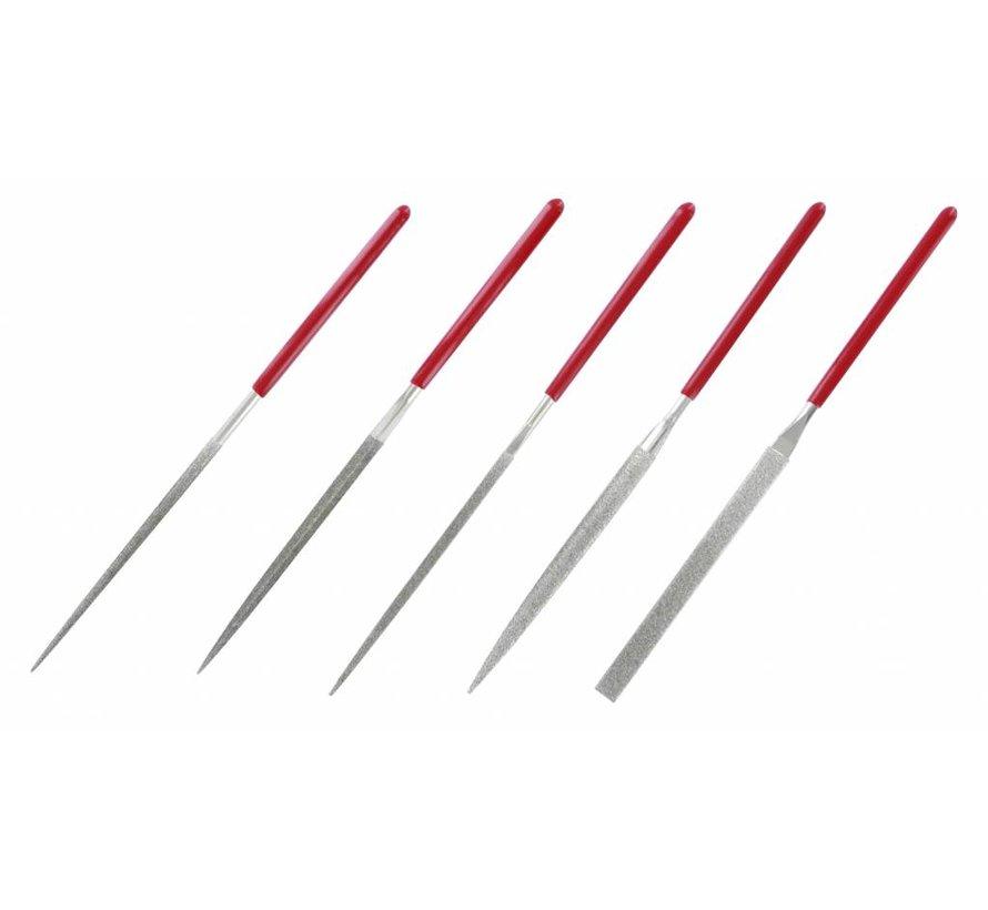 Diamond needle files - diamant vijlen - 5x - Vallejo Tools - T03002