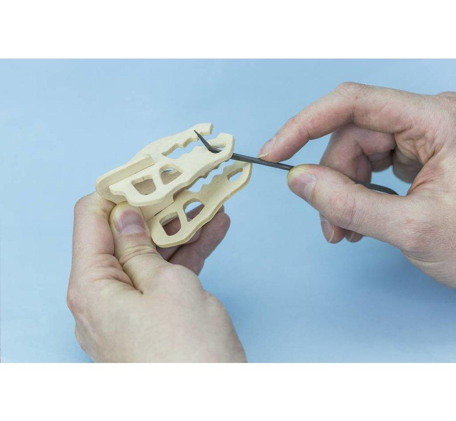 Budget riffler curved file set - gebogen vijlen - 10x - Vallejo Tools - T03003