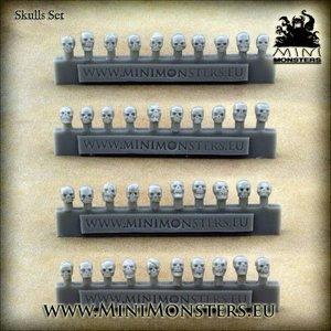 Mini Monsters Schedels - Skulls - 40x - MM-49