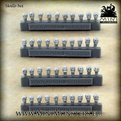 Mini Monsters Schedels - Skulls Set - 40x - MM-49