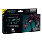 Vallejo Fantasy-Pro Crimson Red Set - 8 kleuren - 17ml - 74103