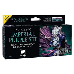 Vallejo Fantasy-Pro Imperial Purple Set - 8 kleuren - 17ml - 74104