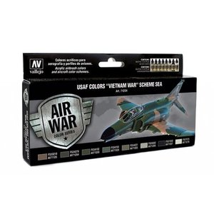 "Vallejo Model Air USAF Colors ""Vietnam War"" Scheme Sea - 8 kleuren - 17ml - 71204"