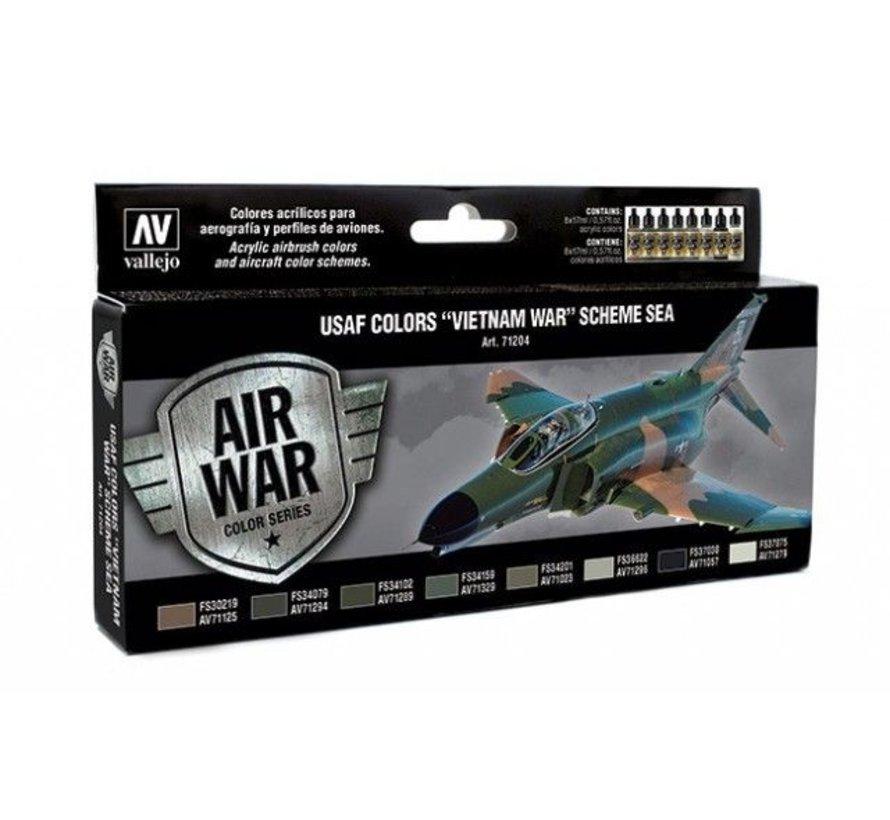 """Model Air USAF Colors """"Vietnam War"""" Scheme Sea - 8 kleuren - 17ml - 71204"""