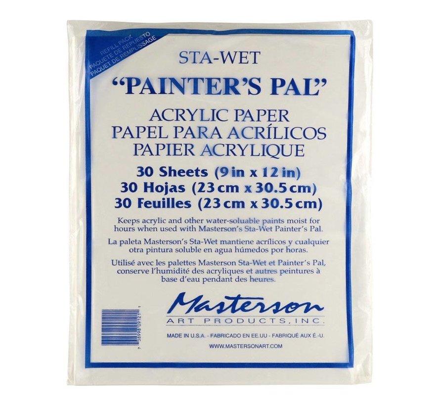 Sta-Wet Painter's Pal Acrylic Film Refill - 30x - MA-912,1