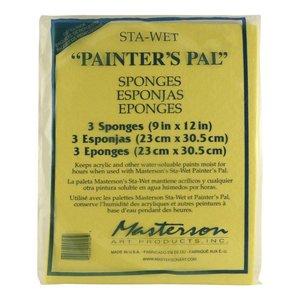 Masterson Art Sta-Wet Painter's Pal 3 Pack Sponge Refill - 3x - MA-912,53