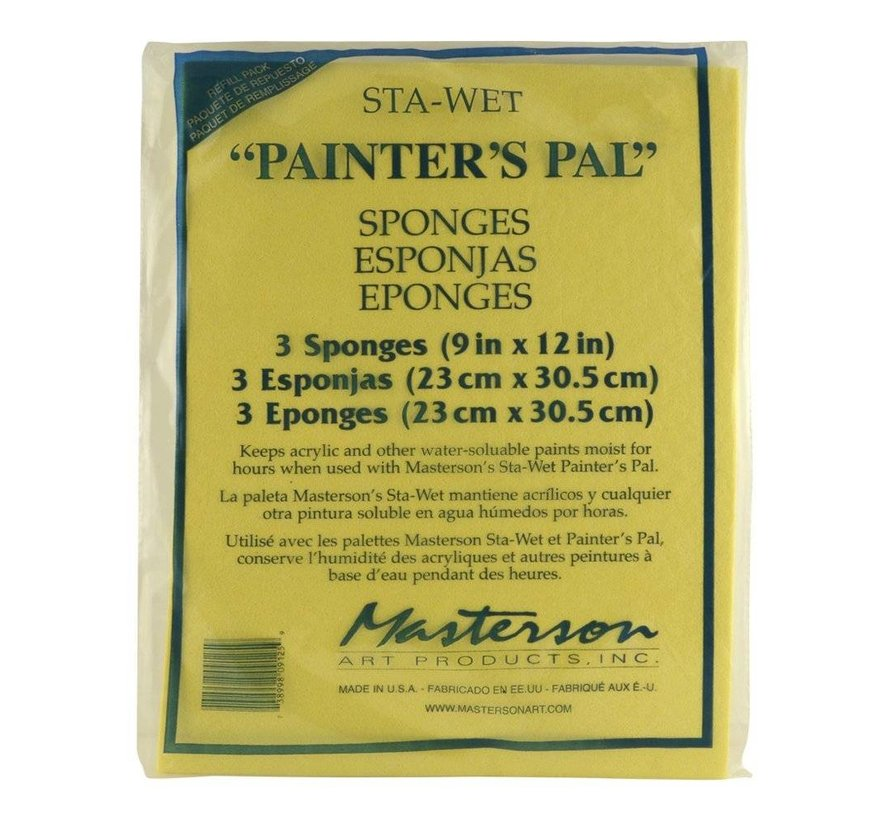 Sta-Wet Painter's Pal 3 Pack Sponge Refill - 3x - MA-912,53