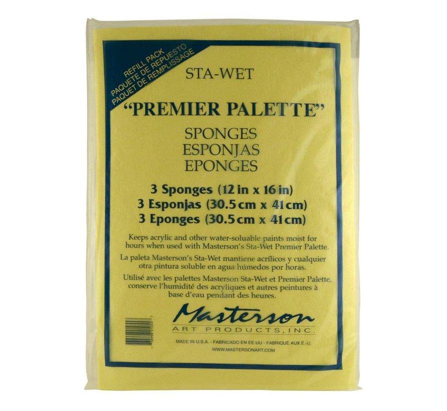 Sta-Wet Premier 3 Pack Sponge Refill - 3x - MA-105,53