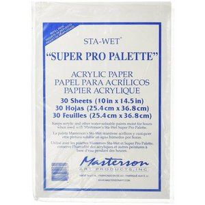 Masterson Art Sta-Wet Super PRO Palette Acrylic Film Refill - 30x - MA-1216,1