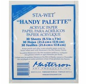 Masterson Art Sta-Wet Handy Palette Acrylic Film Refill - 30x - MA-857,1