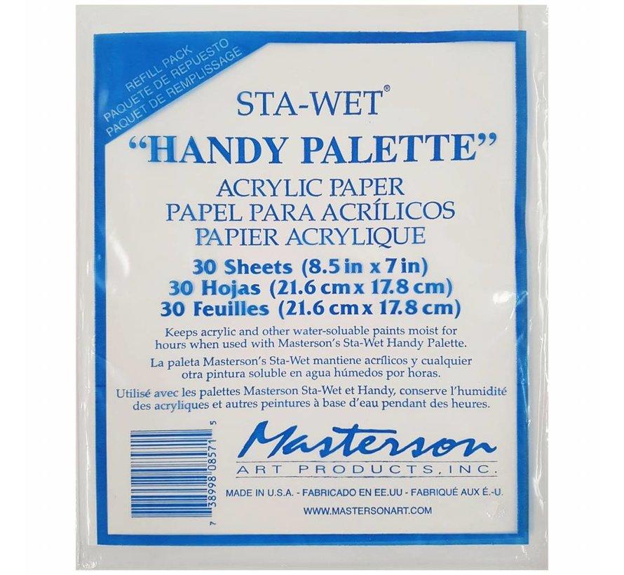 Sta-Wet Handy Palette Acrylic Film Refill - 30x - MA-857,1
