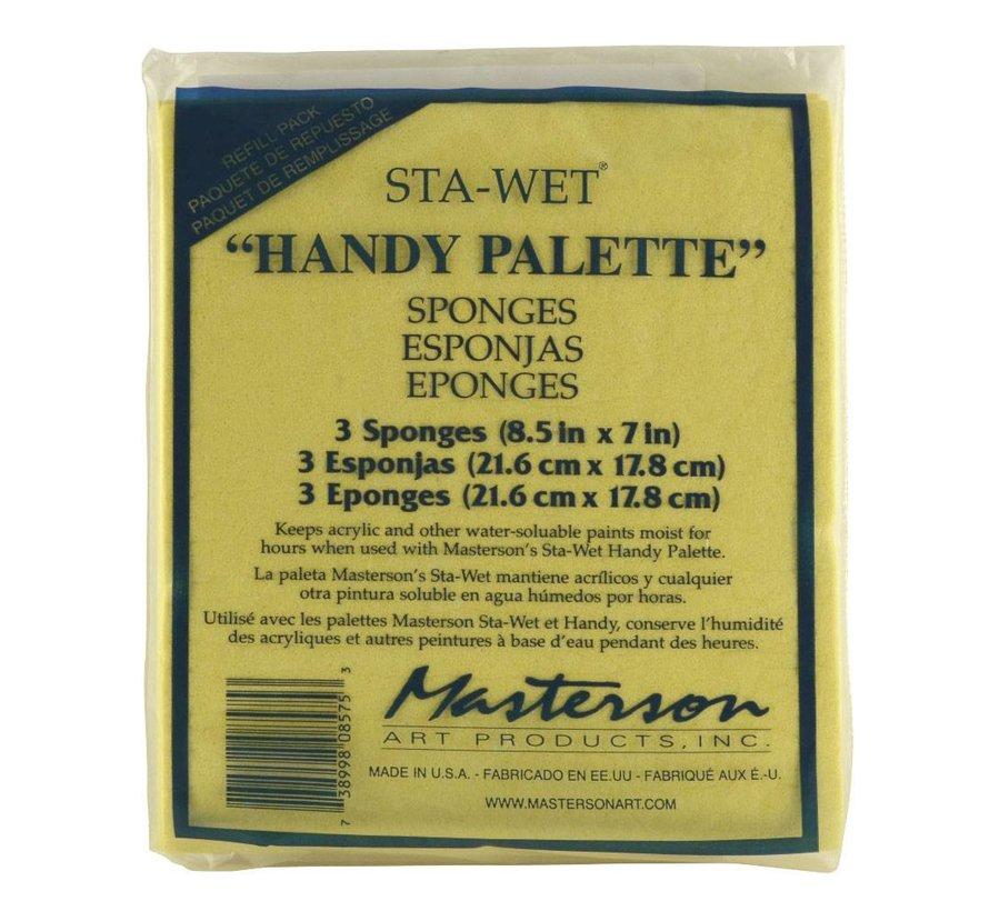 Sta-Wet Handy Palette Sponge Refill - 3x - MA-857,53