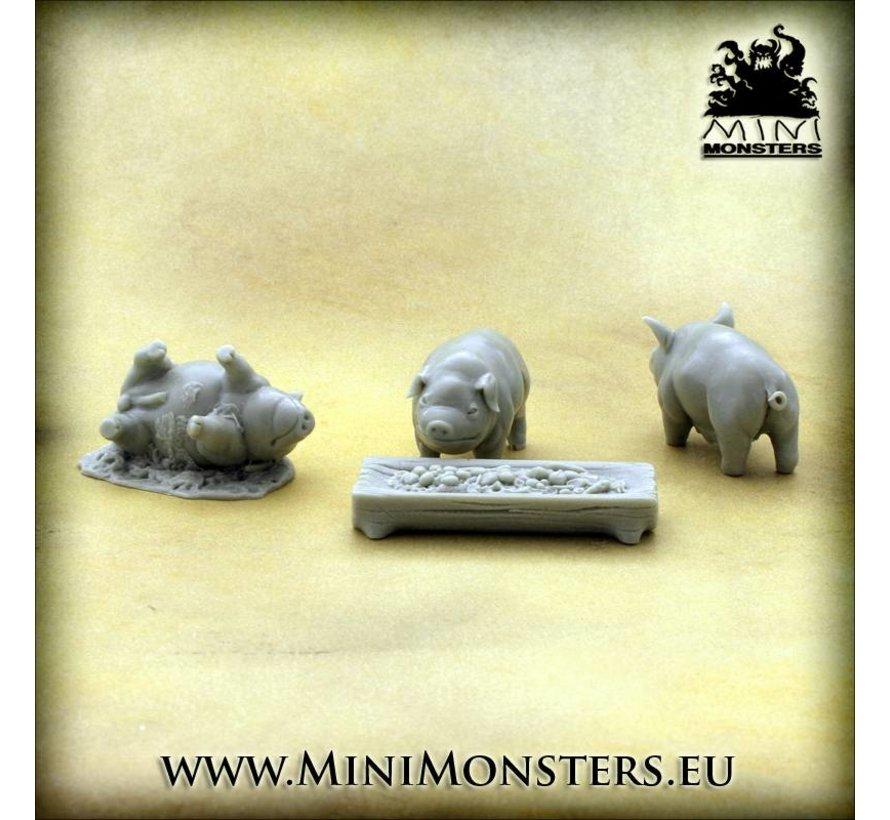 Three Pigs & Through - 4x - MM-0055