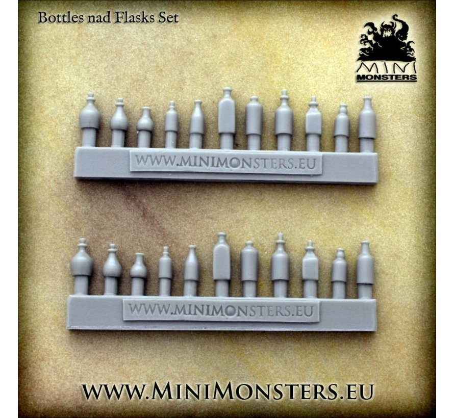 Bottles and Flasks - 22x - MM-0068