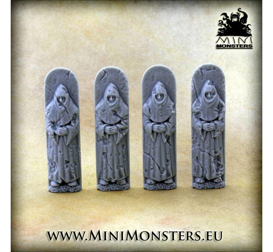 Figures Monk - 4x - MM-0076M