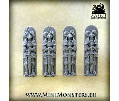 Mini Monsters Gothic Cathedral Right Corner - MM-58
