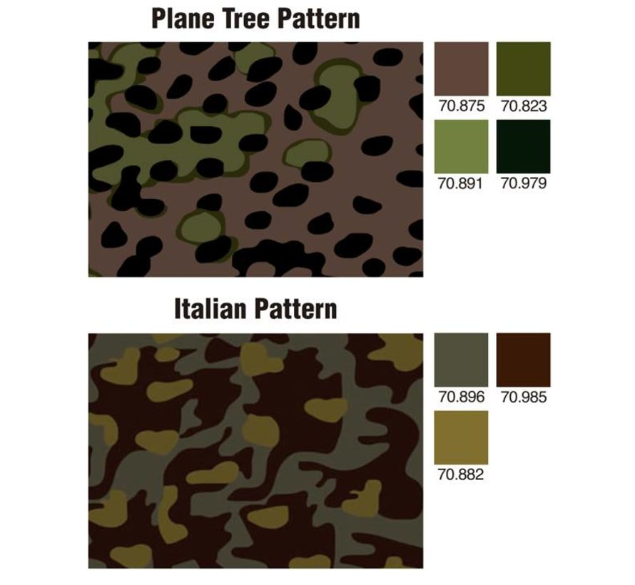 Model Color Panzer Aces Camouflage Colors - 16 kleuren - 17ml - 70179