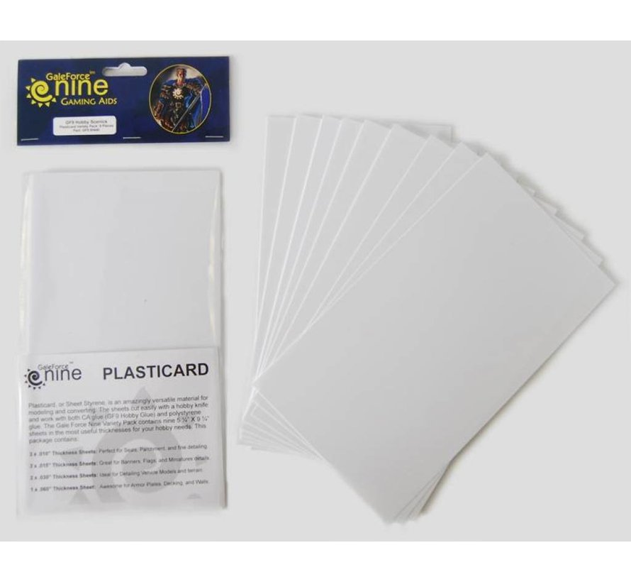 Plasticard Variety pack - 9x - GFM440