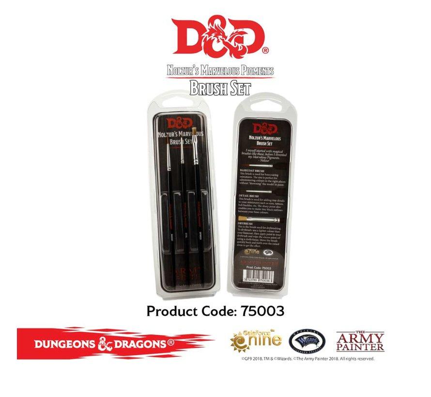D&D Nolzurs Marvelous Brush Set - 3x - 75003