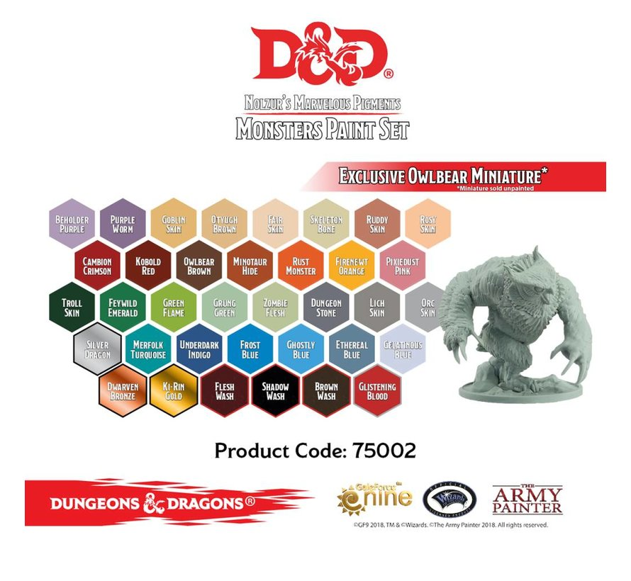 D&D Monsters Paint Set - 36 kleuren - 12ml - 75002