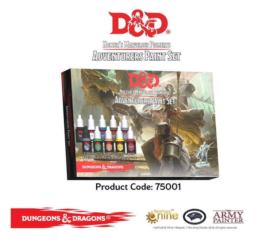 D&D Adventurers Paint Set - 10 kleuren - 12 ml - 75001