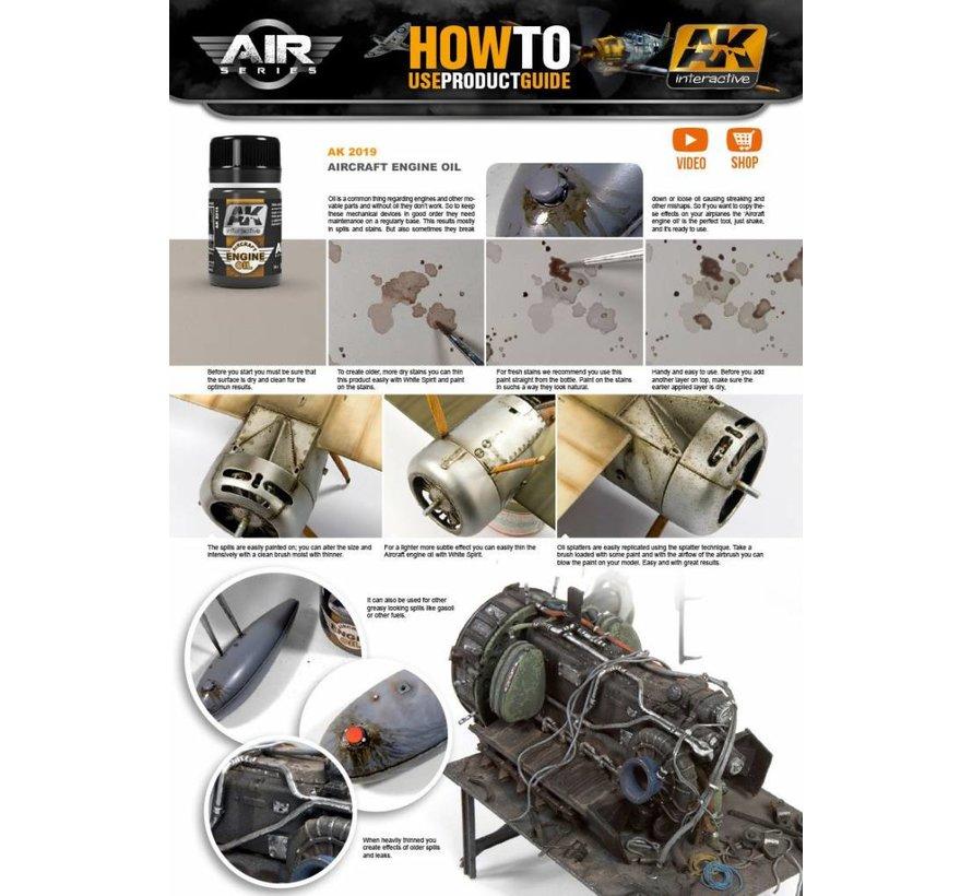 Aircraft Engine Oil - Air Series - AK Weathering - 35ml - AK-2019