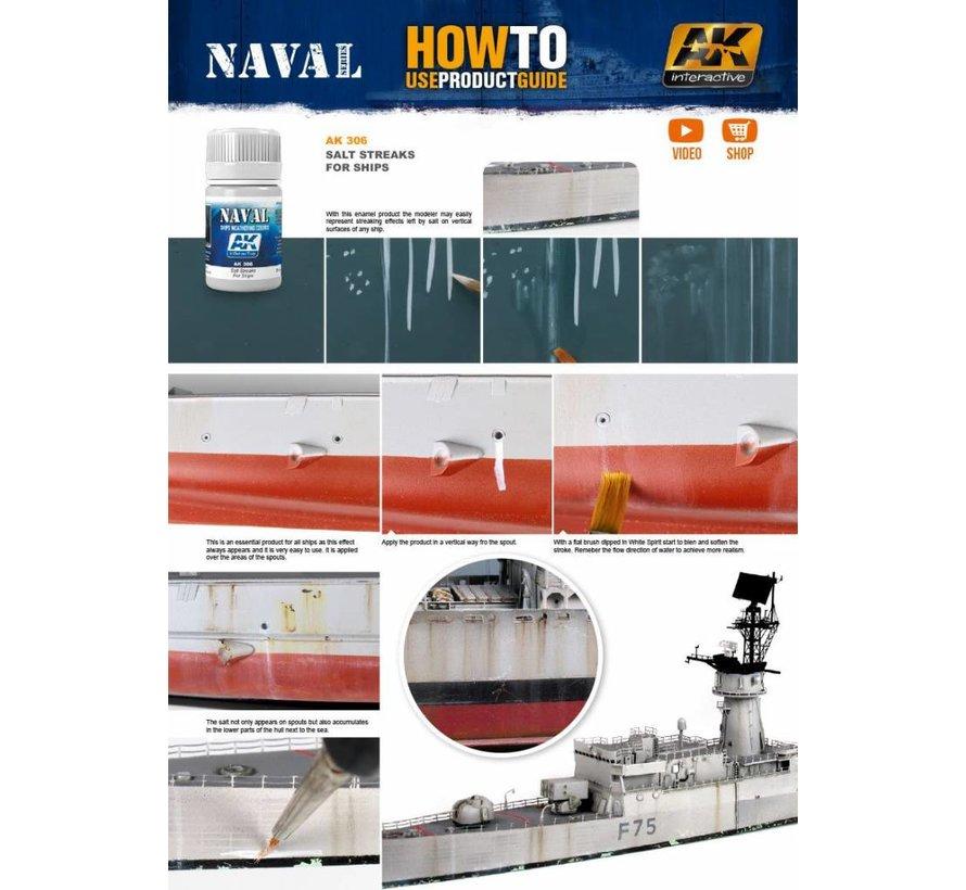 Salt Streaks For Ships - Zeeschepen Weathering - Streaking - 35ml - AK-306