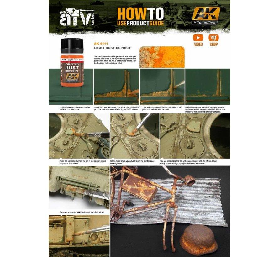 Light Rust Deposit - Deposit Weathering - 35ml - AK- 4111