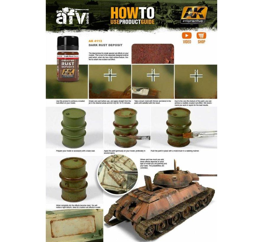 Dark Rust Deposit - Deposit Weathering - 35ml - AK- 4113