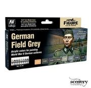 Vallejo Model Color German Field Grey - 8 kleuren - 17ml - 70181