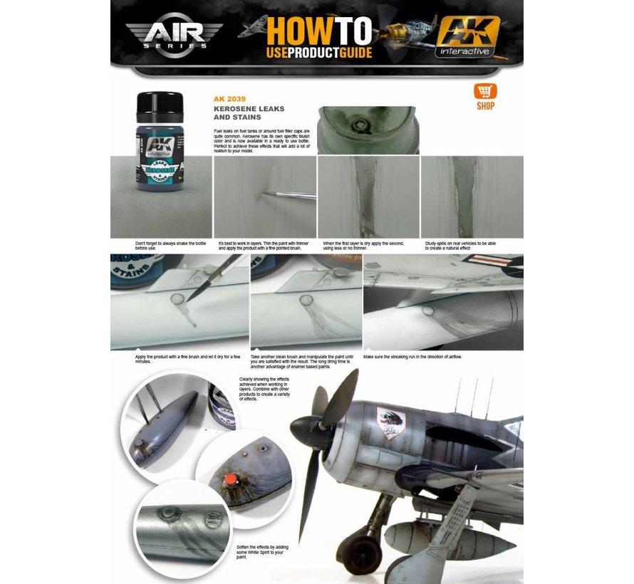 Kerosene Leaks & Stains - Air Series - AK Weathering - 35ml - AK-2039