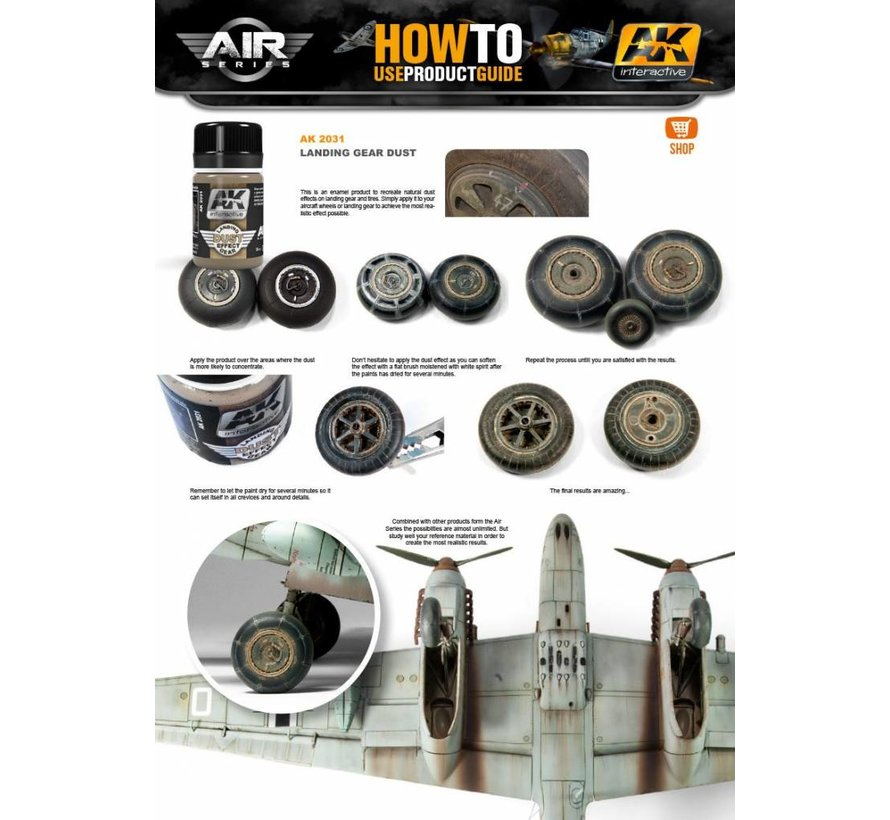 Landing Gear Dust - Air Series - Nature Weathering - 35ml - AK-2031
