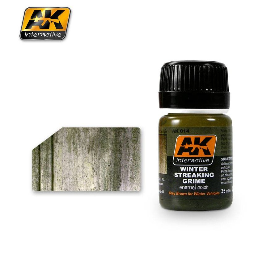 Streaking Grime For Winter Vehicles - Streaking Weathering - 35ml - AK-014