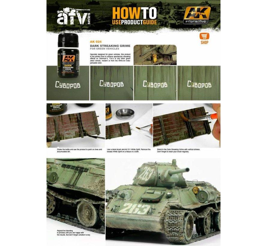 Streaking Grime For Dark Vehicles - Streaking Weathering - 35ml - AK-024